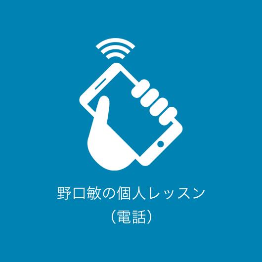 野口敏の個人レッスン(電話)